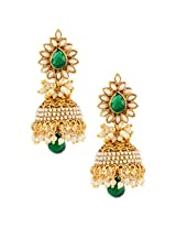 Ethnic Indian Bollywood Fashion Jewelry Set Jhumki EarringsSAEA0866GR