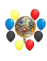 Power Ranger Dino Thunder Balloon Bouquet 9 Pc