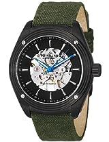 Stuhrling Original Men's 8209C.335OD1 Leisure Millennia Venture Automatic Skeleton Green Canvas Strap Watch