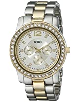 XOXO Women's XO5632 Two-Tone Rhinestones Bezel Bracelet Watch