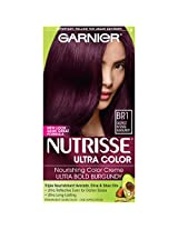 Garnier Hair Color Nutrisse Ultra Color Nourishing Color Creme, Br1 Deepest Intense Burgundy (Packaging May Vary)