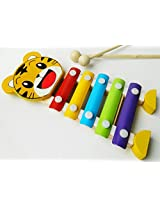Cartoon Hands Knock Wooden Xylophone with 5 Notes - Musical Education Toys for Kids Ages 3+