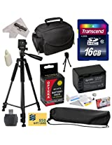 Best Value Accessory Kit for Sony PJ10, PJ26V, PJ30V, PJ50V, PJ200, PJ230, PJ260, PJ320, PJ340, PJ380, PJ390, PJ420, PJ430, PJ430V, PJ510, PJ540, PJ580V, PJ650V, PJ710V, PJ760V, PJ790V, PJ810, HXR150E, XR155, XR160, XR260V, XR350, XR350E, HDR-XR350V, XR550, XR550E, XR550V, XR550V, XR550V Video Camera Camcorder Includes - 16GB High-Speed SDHC Card + Card Reader + Opteka NP-FV70 2500mAh Ultra High C