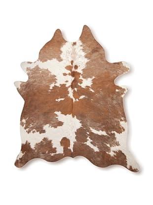 Natural Brand Kobe Cowhide Rug, Brown/White, 7' x 5' 5