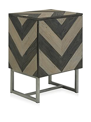 Shine by S.H.O Verdi End Table (Antique Grey/Antique Elm)