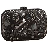 Rafe New York Beaded Moire Leather Kim Clutch Bag