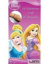 Paper Magic Disney Princess Deluxe Valentines with Bonus Bracelet (16 Count)