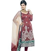 Triveni Unstitched Fancy Salwar Kameez With Dupatta - 117