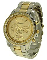 Geneva GV-2TONE-MTL For Women Analog-Digital Casual Watch