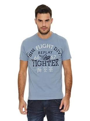Replay Camiseta MC Letras (Azul)