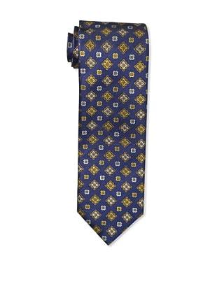 Massimo Bizzocchi Men's Medallion Tie, Navy