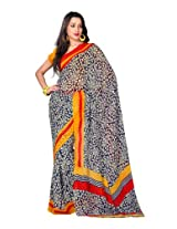 Fabdeal Indian Wear Indian Georgette Blue Printed Saree-OWKSR1009AAMVR