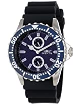 Invicta Men's 14328 Pro Diver Blue Dial Black Polyurethane Watch