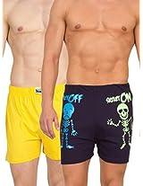 Gabi Men's Blue and Yellow Boxer Combo