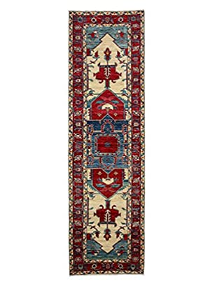Darya Rugs Transitional Hand-Knotted Rug, Red, 2' 10
