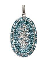 Affra FashionwareSterling silver swarovski crystals Oval pendant