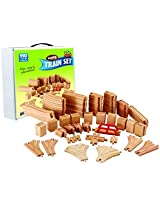 Wooden Train Track Deluxe Set: 110 Pieces 100% Compatible With All Major Brands Including Thomas Train Wooden Railway System By Kids Destiny