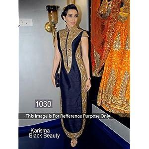 Bollywood Fashion Mirror Work Anarkali - Black