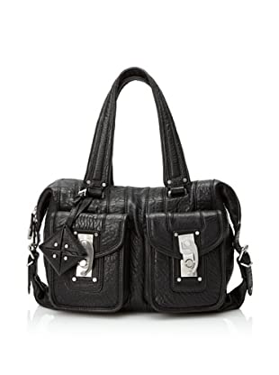 Allibelle Women's Swingset Satchel, Black