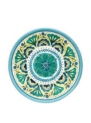 Medallion Melamine Dinner Plate, Blue/Yellow
