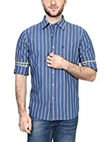Allen Solly Men Slim Fit Shirt_AMSF515G02646_46_Blue