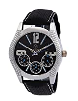 PREEZON Black Dial Analogue Watch for Men (pi-BLAZE-001)