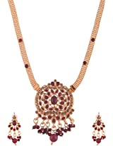 Ganapathy Gems Gold Plated Pendant Set for Women (6142)