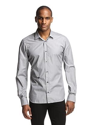 Dior Men's Stripe Shirt (Grey)