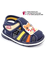 Cute Walk Baby Sandal Velcro Closure - Bear Patch