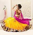Designer Yellow Colour Net Embroidered Lehenga Choli