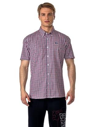 Lonsdale Camisa Xiamen (Rojo / Azul)