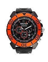 Sector Black Chronograph Men Watch R3271603025