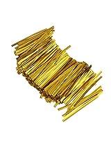 Generic Chic 800 Pcs Metallic Twist Ties for Candy Lollipop Cake Pop Cello Bag Gold