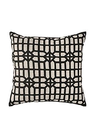 Bandhini Homewear Design Atami Screen Throw Pillow, Black/Natural