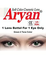 Aryan Green 2Tone Colour Yearly Contact Lens 1 Lens Pack By Visions India -0.00