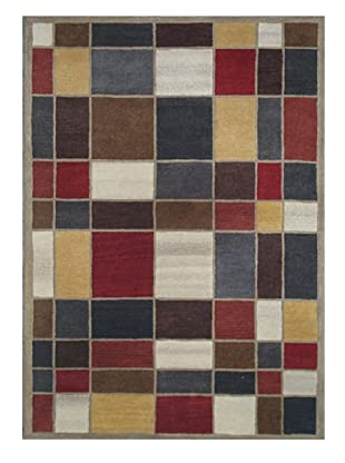 Mili Designs NYC Stained Glass Rug, 5' x 8'