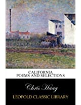 California poems and selections