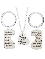 Ananth Jewels Father Daughter Mother Gift Combo 2 Key Chains and 1 Pendant for Women
