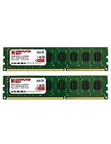 Komputerbay 16GB (2x 8GB) PC3-10600 10666 1333MHz DDR3 1333 DRAM DIMM 240-Pin RAM Desktop Memory Dual Channel KIT 9-9-9-25
