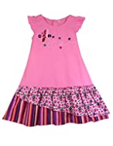 Ssmitn Kidswear Pink Butterfly Frock For Girls