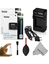 (2 Pack) EN-EL12 Battery and Charger Kit for NIKON Coolpix AW100 AW100s AW110 AW110s S9500 S9300 S9200 S9100 S8200 S8100 S6300 P330 P310 P300 S1200pj S1000pj S620 S31 - Includes: 2 Vivitar Ultra High Capacity Rechargeable 1200mAh Li-ion Batteries + AC/DC