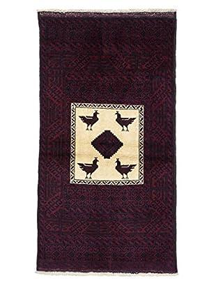Darya Rugs Authentic Persian Rug, Red, 2' 10