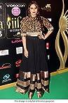 Huma Qureshi Black Long Anarkali at IIFA Awards