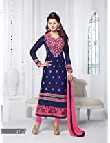 Rozdeal Georgette Long Embrodery Chudidar Suit