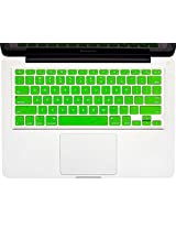 "Cables Kart Soft Silicone Keyboard Skin Crystal Guard Protector Cover For MacBook 13"" / 15"" / 17"" inch - Green"