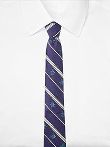 Original Penguin Men's Ocean Stripe Tie (Purple)