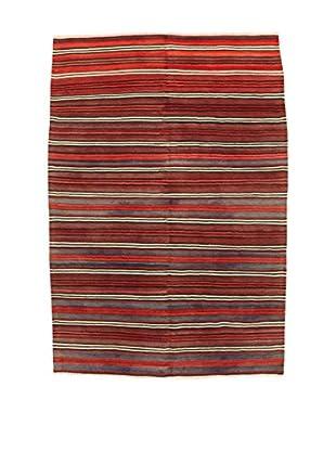 Design Community By Loomier Teppich Kilim Caucasico rot/grau 148 x 224 cm