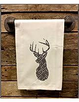 My Swag Shack Home Christmas Deer Stag Reindeer Flour Sack Chef Kitchen Towel