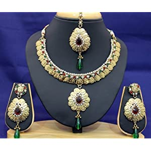 Antique Gold polki Necklace set - Online Shopping for Necklaces by The Art Jewellery