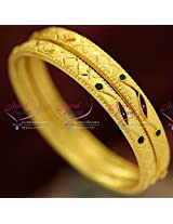 2.4 Size 2 Pieces Casual Wear Gold Plated Design Bangles Online